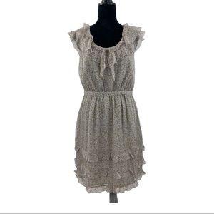 J. Crew Silk Floral 3-tier Ruffle Sleeveless Dress